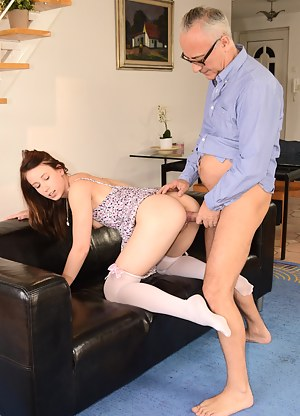 Minny is the newest girl that get's Jim's cock in her face