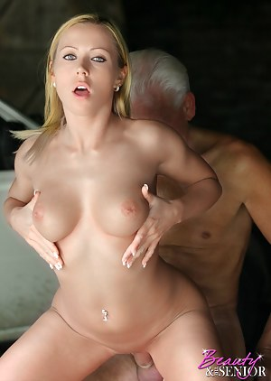 Perfect blonde hottie gets fucked by an older horny man