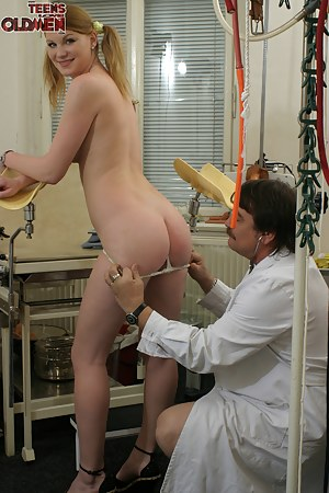 This horny old doctor loves a filthy teen