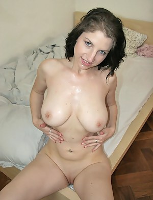 Amazingly sweet babe is riding big cock of her partner with pleasure. Her another great tricks are blowjob and deep anal fuck.