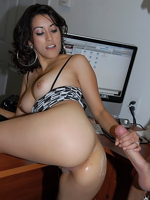Amazingly cute babe having dark hair and tattoo is getting banged in hardcore way. She is getting fucked in doggy style move and enjoying cumshot.