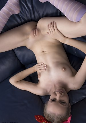 She has that wonderful body completely naked as she reveals every inch of that sweet pussy of hers.