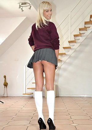 Jim has a naughty school girl in his room longing for cock