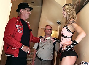 Naughty skinny hooker is hired by a tourist for hot sex