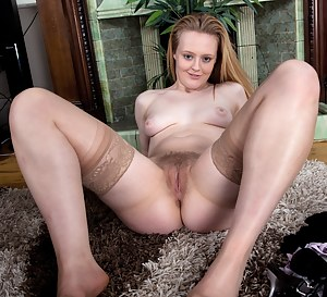 Playful tease Laura Kaye is ready to play in her nude stockings and black mini dress. Watch her strip down and show off her extremely hairy body in this tantalizing hirsute porn!