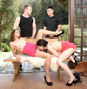 Two guys and two girls show us that everyone loves cock
