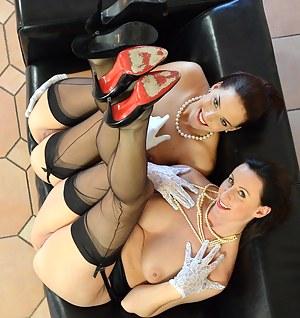 Naughty and sexy babe Lara Latex fucking hot young Lyen